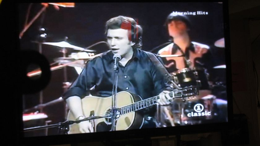 Don McLean singing 'American Pie' on the Big Screen