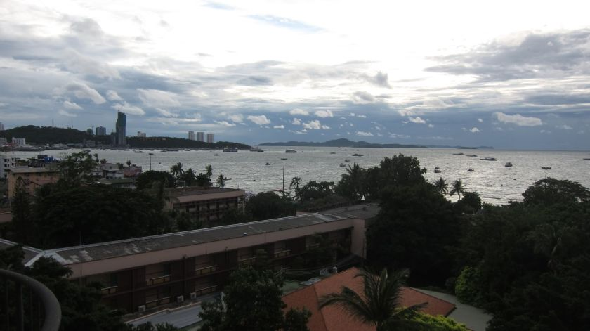 Pattaya Bay from The Montien