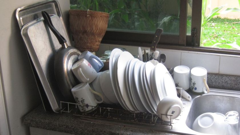 My one go at washing up....